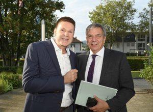 Erstes Kennenlernen mit Oberbürgermeister Gert-Uwe Mende